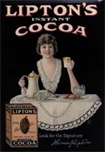 Lipton's Instant Cocoa. Advertisement c1915 USA