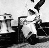 A nurse on the deck of Erin, 1915