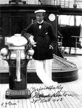 Signed photograph of Sir Thomas Lipton aboard Erin, October 1903